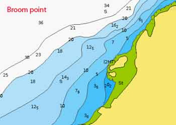 Broom point dive map
