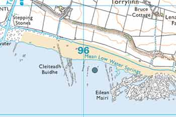 Glenann dive map